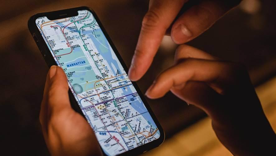 mapa na telefonu